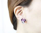 Mickey Mouse and Minnie Mouse Unbalance Earrings, Disney Earrings-2