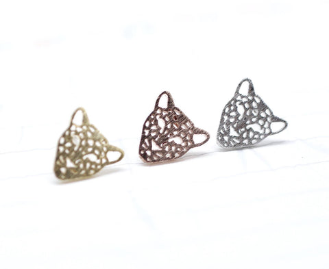 Cut-out Animal Leopard Panther Stud earrings in 3 colors