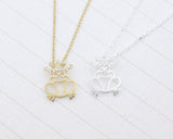 Frog prince necklace detailed with CZ in 2 colors