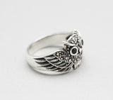 925 Sterling Silver Owl Statement Ring, R0767S