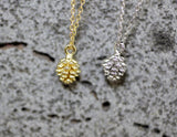 Tiny Pinecone necklace/ woodland necklace / forest necklace in 3 colors