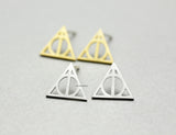 Deathly Hollow  post earrings in 2 colors, E0776S