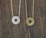 Compass necklace in 2 colors