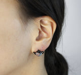 Coffee Bean , Pretzel and Tea pot post earrings,E0623S