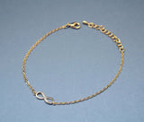 Infinity Bracelet in Silver and Gold (925 sterling silver/plated over Brass)