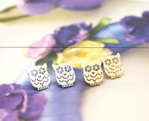 cute and unique Owl earrings(gold /silver)
