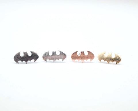 Dark night Batman studs earrings 4 color(silver,gold,grey,pink)