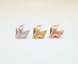Fox studs earrings in matte gold / silver / pink gold