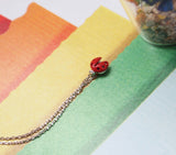 Lady Bug Red charm pendant necklace in Gold / Silver
