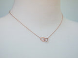 Infinity Hearts Necklace in Gold / Silver / Pink gold