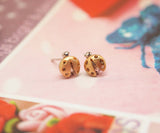 Lady Bug studs earrings in 3 colors