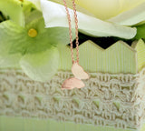 Romantic Butterfly pendant necklace in 3 colors(925 sterling silver / plated over Brass)