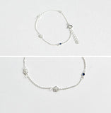 Daisy Blossom Bracelet in silver / gold (925 sterling silver / plated over Brass)