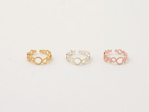 Bubble Circles adjustable Ring in 3 Colors(925 sterling silver / plated over Brass)