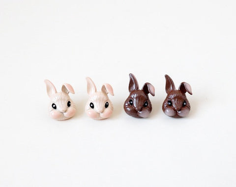 Peter rabbit post statement earrings in 2 colors