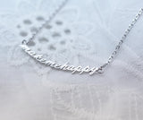 make me happy pendant necklace in gold and silver- make me happy jewelry