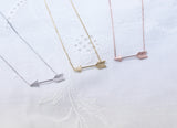 Big Piercing Arrow Necklace in gold / silver / pink gold