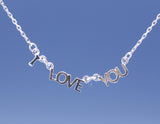 I LOVE YOU pendant Necklace ,Letter necklace(925 sterling silver / plated over Brass)
