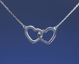 925 sterling silver Infinity Hearts Necklace