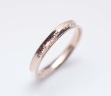 925 Sterling Silver Trio of Stackable  Engraved  Rings (Rose Gold, Yellow Gold and Silver)