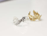 Light Feather Ring - Adjustable Ring (925 sterling silver/plated over Brass)