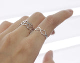 BEST FRIEND  twisted Infinity Ring  3 Colors