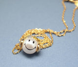 Music is my life smile man charm pendant Necklace in 2 colors