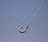 Horseshoe with cubic zirconia detail Necklace