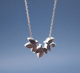 Laurel leaf necklace in GOLD SILVER