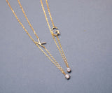 Initial with cubic zirconia Necklace -Choose your Initial