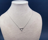 Open Triangle Pendant Necklace in 3 colors (925 sterling silver / plated over Brass)