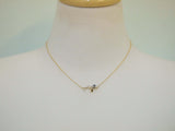 Bird On a Branch with pearl Necklace Gold / Silver