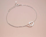 Infinity Hearts Bracelet in Gold / Silver / Pink gold