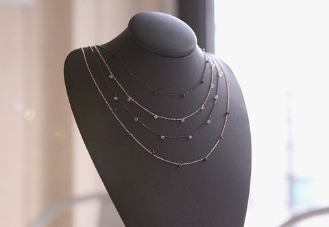 925 Sterling Silver Spinel and Labradorite beads Dangling necklace