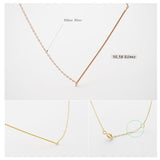 925 sterling silver Skinny bar necklace, slim Bar pendant necklace, Wire Bar Necklace in 3 colors