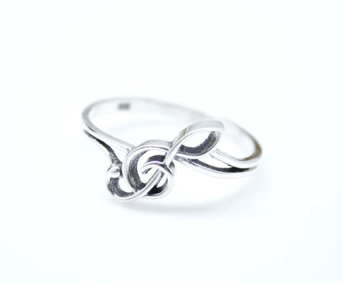925 Sterling Silver Sideways Treble Clef Ring