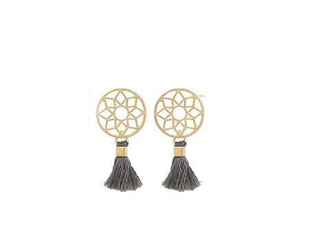 Dreamcatcher Earrings Dream Catcher Boho with Tassel stud earrings in 2 colors