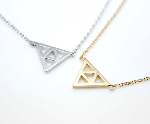 The Tri Force necklace in 2 colors(925 sterling silver / plated over Brass)