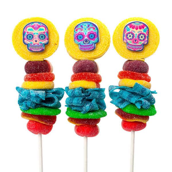 dia de los muertos day of the dead candy kabobs