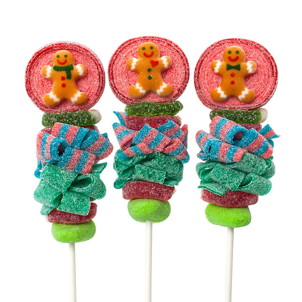 Gingerbread Man Candy Kabobs - 6qty