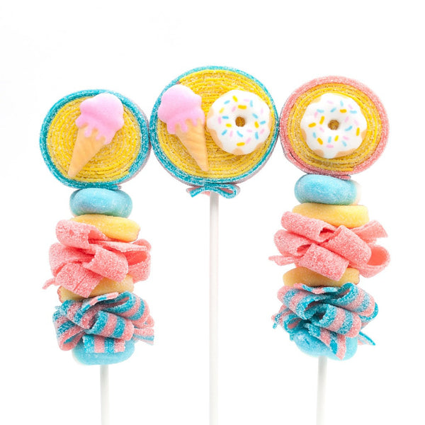 Ice Cream and Donut Candy Kabobs - 6qty