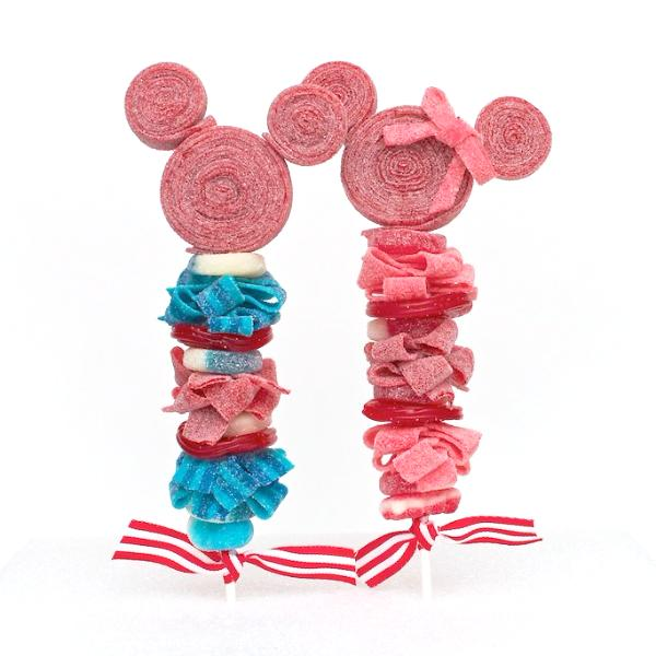 Mickey and Minnie Mouse Inspired Candy Kabobs - 6qty