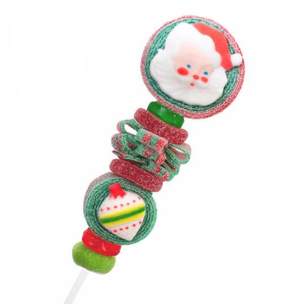 Vintage Santa Claus Candy Kabobs - 6qty