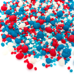 Patriotic Flavored Candy Sprinkles