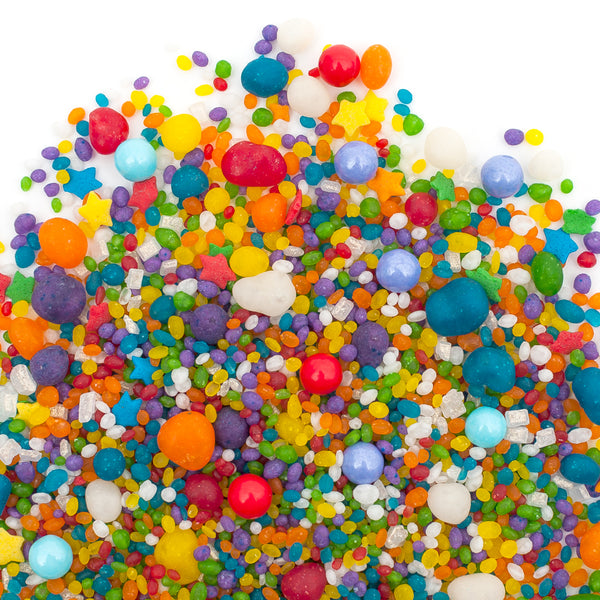 Rainbow Carnivale Flavored Candy Sprinkles