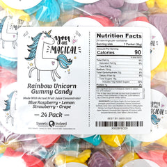 Rainbow Unicorn Gummy Candy 24-Pack