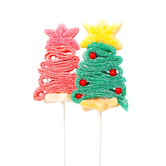Christmas tree candy kabobs