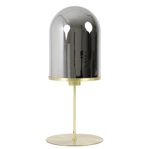 Light & Living Tafellamp MAVERICK goud metaal smoke glas - ThatLyfeStyle