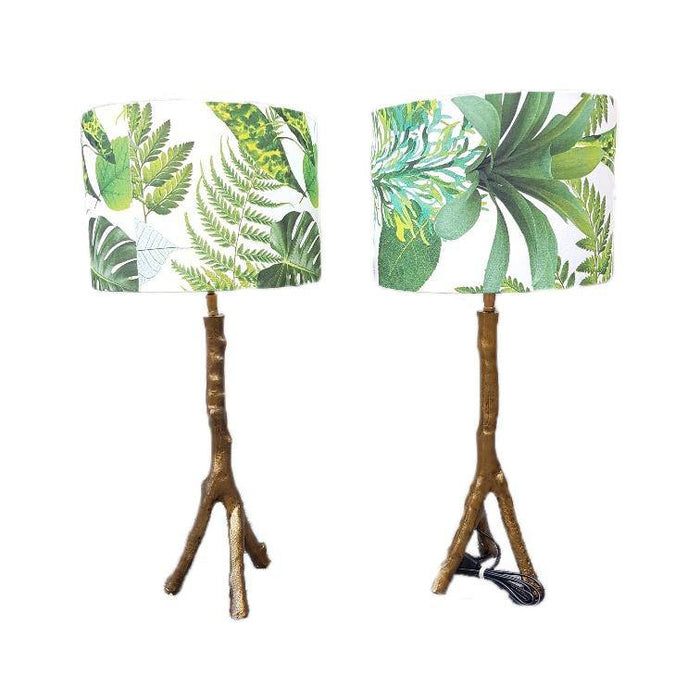 Table lamps table lamp bronze design lampshade lighting - ThatLyfeStyle