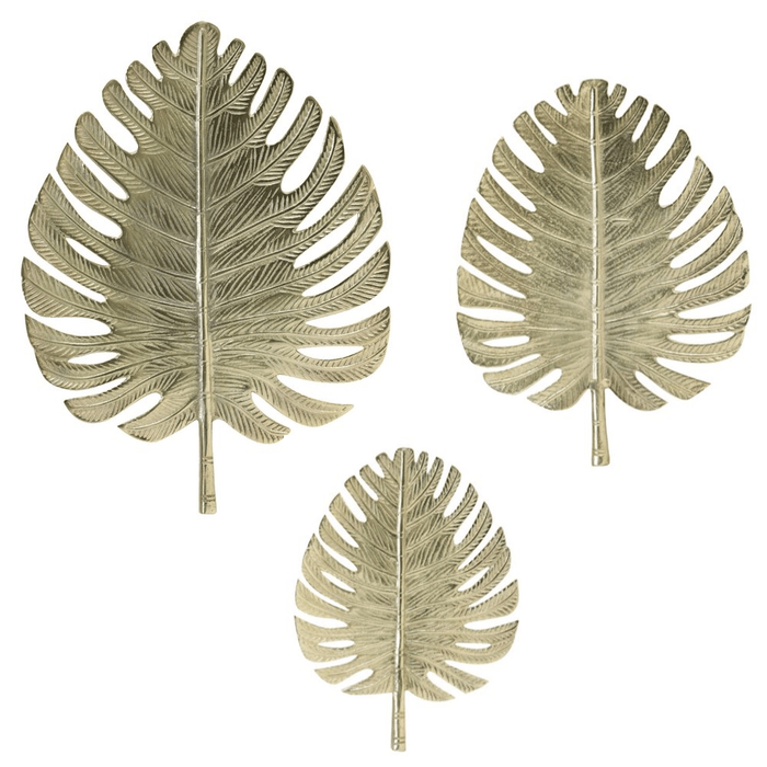 Wall decoration metal living room bedroom leaf gold - ThatLyfeStyle